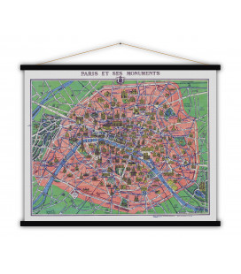 Carte Paris et Monuments MEDIUM