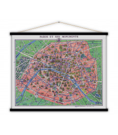 Carte Paris et Monuments MEDIUM