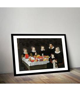 Tableau Caisse Américaine Portrait Mc Donald Family [50/75cm]