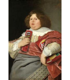 Affiche Portrait Mademoiselle Chips [30/40cm]