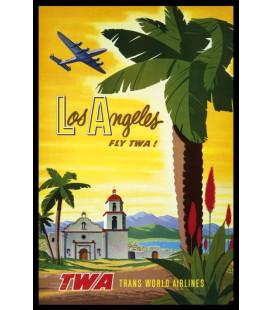Affiche Airlines Los Angeles TWA [30/40cm]