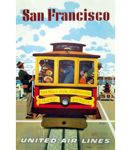 Affiche Airlines San Francisco United Airlines [30/40cm]
