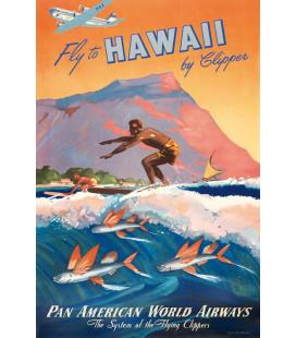 Affiche Airlines Hawai Pan Am [30/40cm]