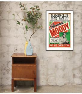 Tableau Caisse Américaine Concert James Moody [40/60cm]