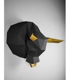 Taureau Noir & Or DIY - Colle Offerte