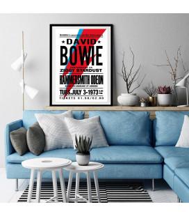 Tableau Caisse Américaine Concert David Bowie 1973 [50/75cm]