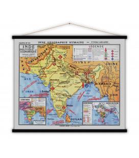 Carte Inde Politique et Economique MEDIUM