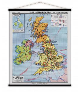 Carte Iles Britanniques MEDIUM