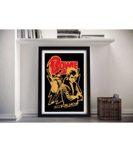 Tableau Caisse Américaine Concert David Bowie World Tour [50/75cm]