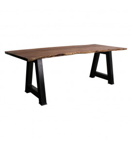 Table A Manger Courbée AcaciaWood 200cm Plateau 5cm - 8 Personnes
