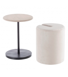 Table Pouf 2 en 1 Calie Beige