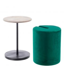 Table Pouf 2 en 1 Calie Vert