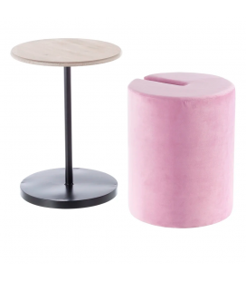 Table Pouf 2 en 1 Calie Rose