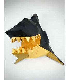 Tête de Requin Noir & Or DIY - Colle Offerte