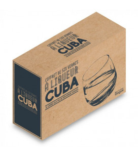 Coffret de 6 Verres Cuba Culbuto
