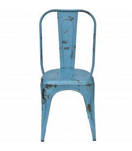 Chaises X4 Old Factory Blue