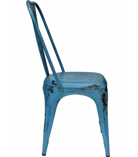 Chaise Old Factory Blue