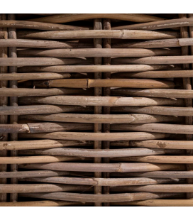 Banquette Suna Rotin - Outdoor 160cm - Tissu couleur Naturelle