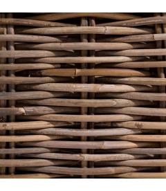 Fauteuil Suna Rotin - Outdoor - Tissu couleur Naturelle