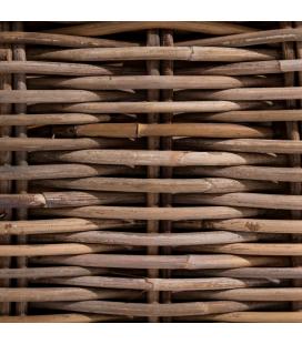 Pouf Suna Rotin - Outdoor - Tissu couleur Naturelle