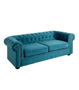 Canapé Chesterfield 3 Places Bleu
