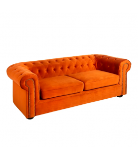Canapé Chesterfield 3 Places Orange