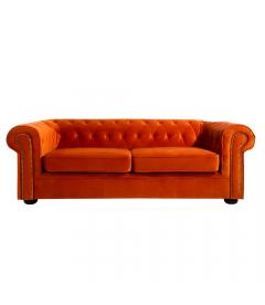 Canapé Chesterfield 3 Places Orange