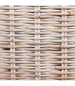 Fauteuil Suno White Rotin - Outdoor - Tissu Clair
