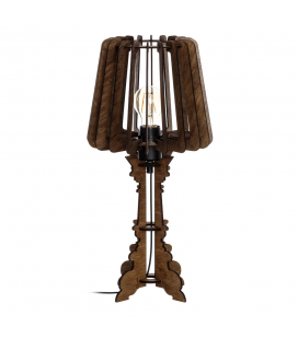 Lampe Wood Brown