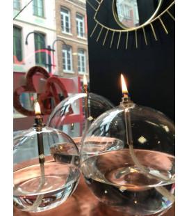Set 3 Bougies Éternelles Rondes Chromées + Paraffine + Entonnoir