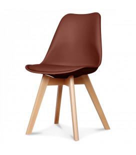 Chaise Copenhague Chataigne + Coussin