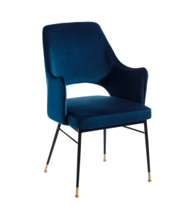 Chaise avec Accoudoirs Slott Bleu
