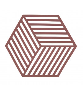 Dessous De Plat Hexagon Trivet - Siena Red