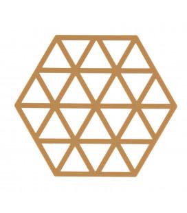 Dessous De Plat Trivet - Caramel - Pcs. - Triangles - Silicone - H 0,9cm -