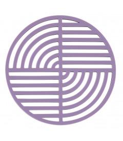 Dessous De Plat Circle Lavande en Silicone