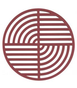 Dessous De Plat Circle Rouge Brique en Silicone