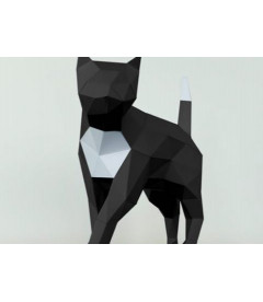 Chat Noir et Blanc DIY - Colle Offerte