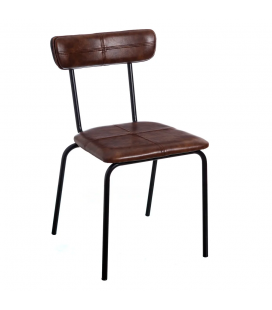 Chaise Straight Line Marron