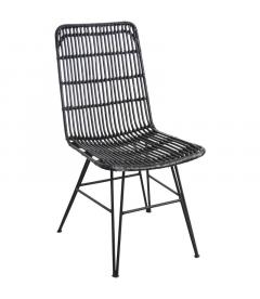 Chaise Rotin Aubry Noir