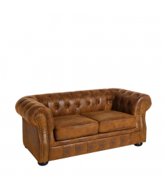 Canapé Chesterfield 2 Places Brown