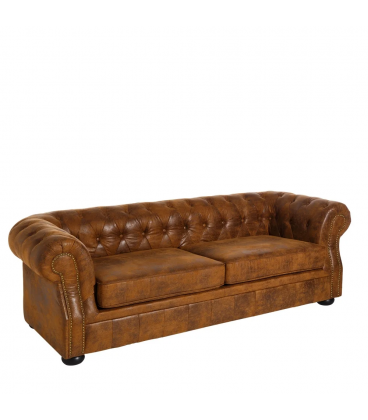 Canapé Chesterfield 3 Places Brown