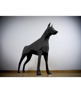 Doberman Noir 80cm DIY - Colle Offerte