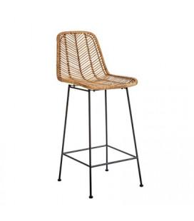 Chaise de Bar Fay Rotin Naturel Bloomingville