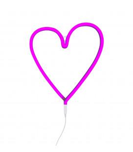 Lampe Neon Coeur Rose