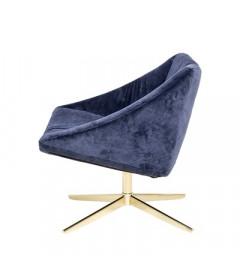 Fauteuil Pivotant Elegant Bleu Bloomingville