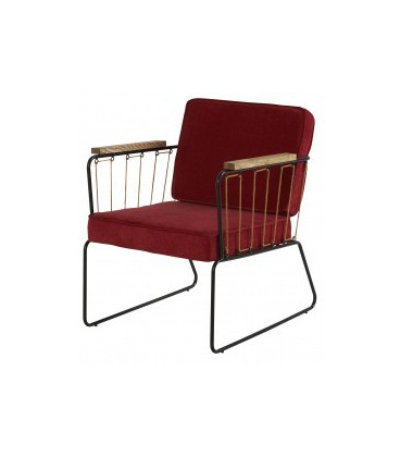 Fauteuil Mendra Framboise