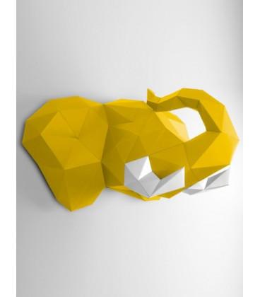Eléphant Jaune & Blanc DIY - Colle Offerte