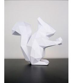 Ecureuil A Poser S Blanc H22xl10.5xp22cm