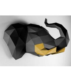 Eléphant Noir et Or DIY - Colle Offerte