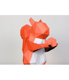 Ecureuil A Poser Orange & Blanc DIY - Colle Offerte